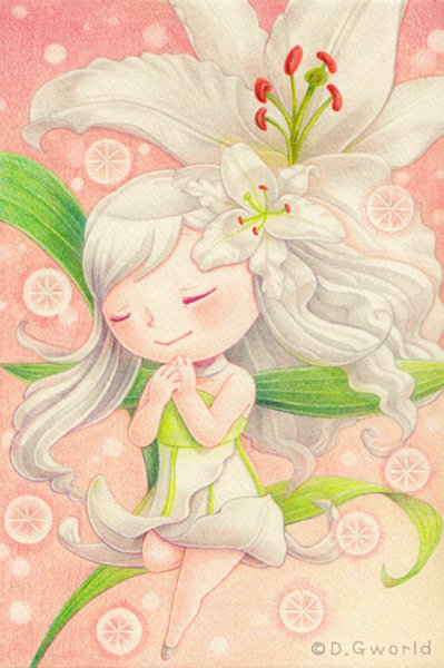 August's birth flower:  Lily - By D.G