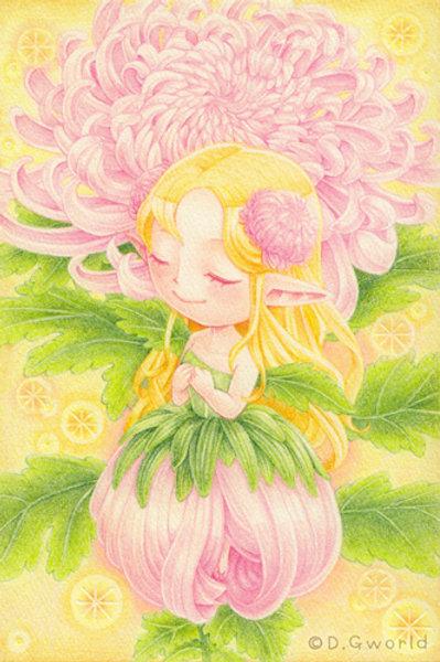 October's birth flower:  Chrysanthemum - By D.G