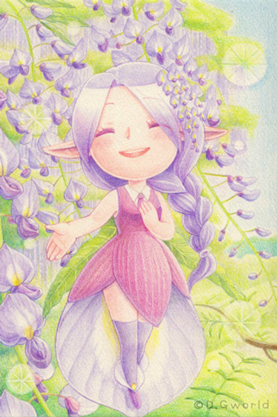 April's birth flower:  Wisteria - By D.G