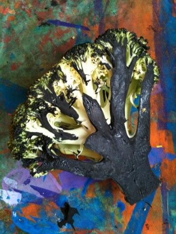 Brocolis en guise de pinceau