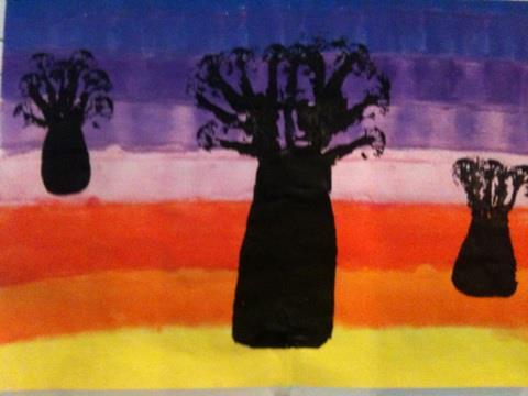 Mon baobab avec des brocolis !