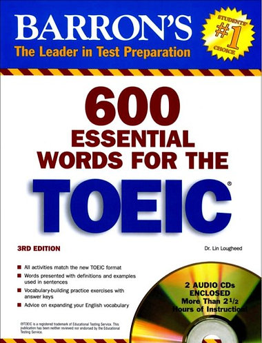 600 Essential Words For The Toeic (3rd - 4th)