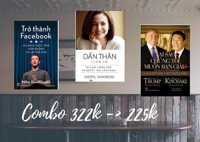 Combo 3 quyển (Trở thành Facebook + Dấn thân + Tại sao chúng tôi muốn bạn giàu)