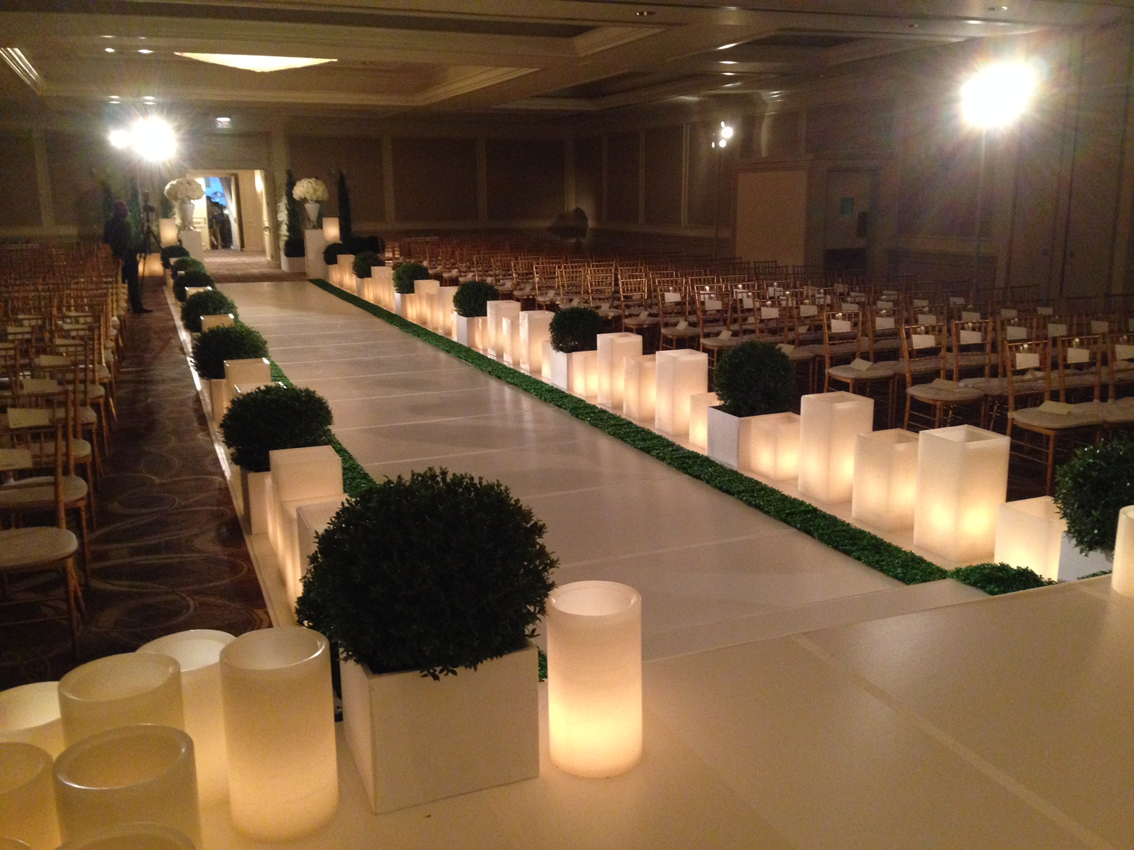 Wedding decor wax lanterns