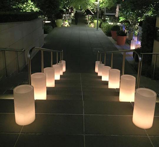 Cylinder Wax Lanterns Rental