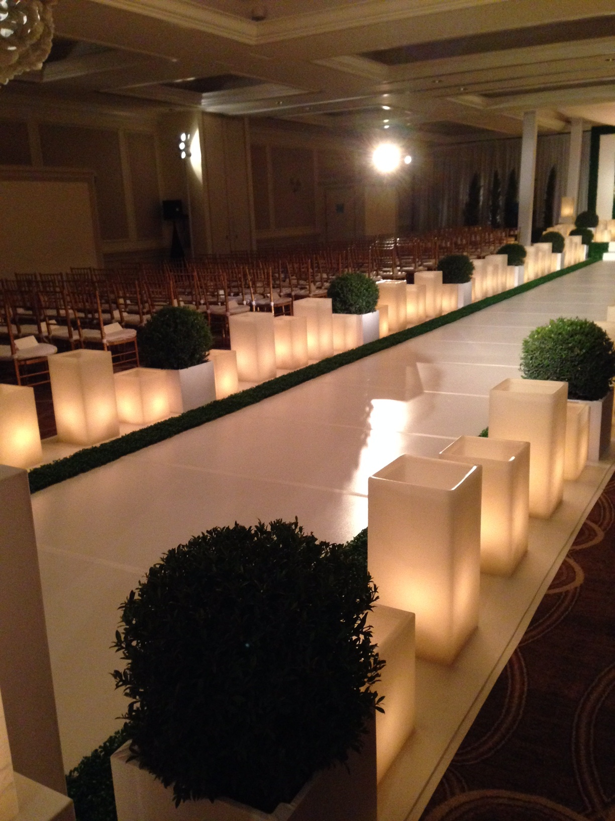 Luxury candle rental for events