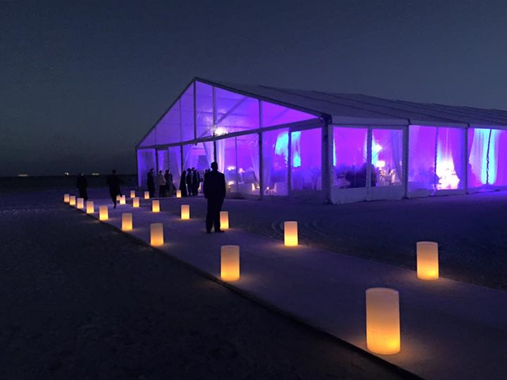 Beach events decor