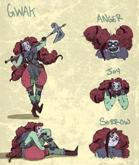 Gwak Character Sheet
