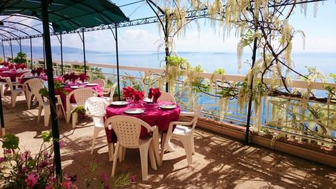 Villa Saint Camille Théoule sur Mer La terrasse et le mimosa  www.villasaintcamille.org