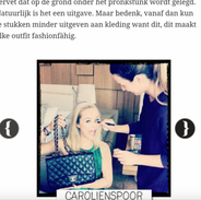 Backstage with Carolien Spoor.