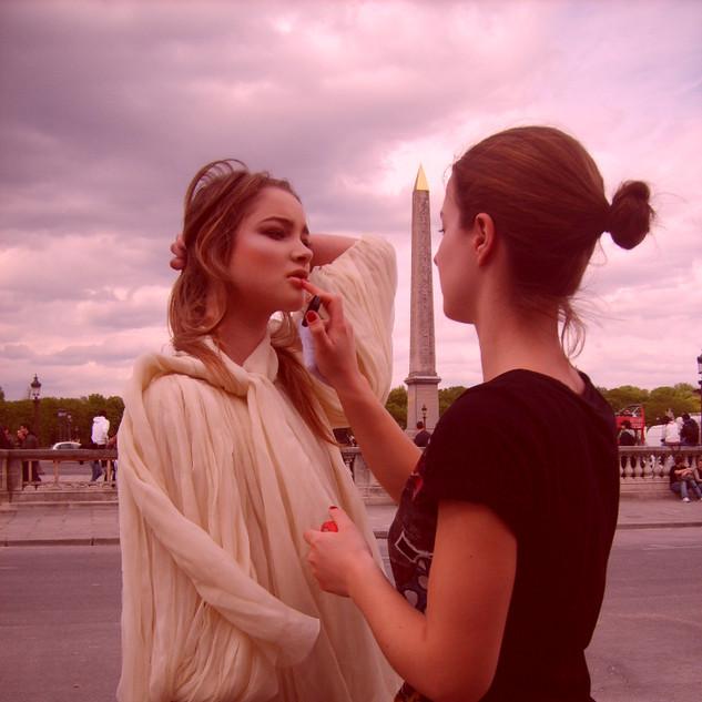 Behind the scenes in Paris.