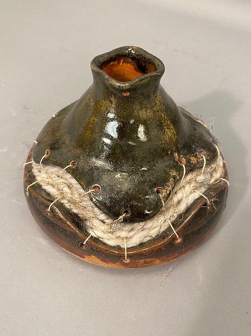 Earth tone Woven Vase