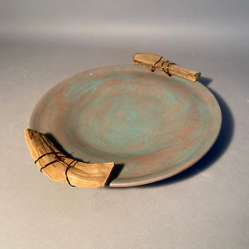 Plate with driftwood handles