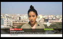 BBC World News - Dakar Protests