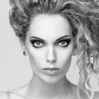 • Makeup & hair • Photographer: Neil Snape • Model: Dora Marbl