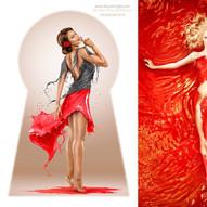 "Milk Calendar 2018 ""The Splash Screen""- Photographer: Jaroslav Wieczorkiewicz • Makeup • Hair: Linda Olufsen  • Model: Dora Marbl, Anisæ Shaken"
