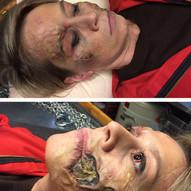 Kurt Josef Wagle og mordmysteriet på Hurtigruta - Feature Film Directed by Tommy Wirkola • Makeup designer • Picture - silicone prosthetics & application on Maria Bock