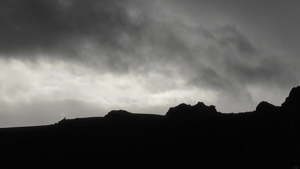 Weather closing in on The Stiperstones