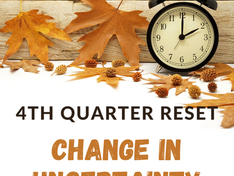 Thinking about change in the midst of uncertainty