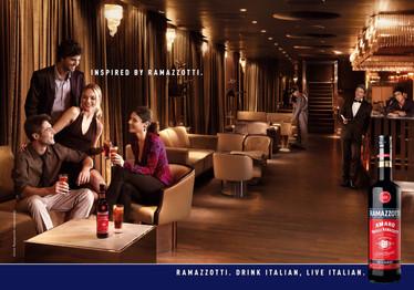 Ramazzotti print campaign for international markets