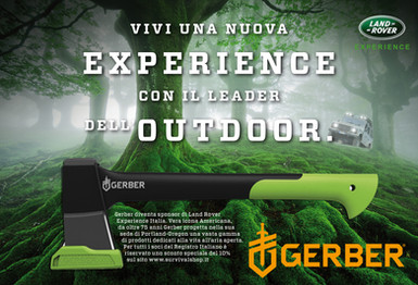 Gerber sponsorship Land Rover experience