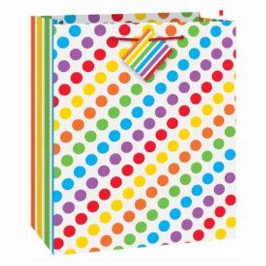 Bag Gift Medium Rainbow Dots