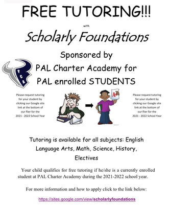 Free Tutoring Provided by Scholarly Foundations