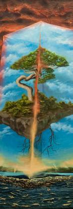 Egosysteemi I Egosystem  214 x 144 x 12 cm, Acryl, spray and mixed media on canvas, 2016.