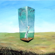 Reshape Your World I Maailmasi muuksi muovaa  2017, 35 x 113 x 15 cm, acryl and mixed media on canvas