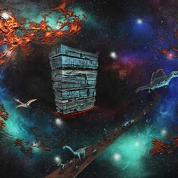 Antaa elämälle tarkoitus / To Give Life a Meaning  2020. Akryyli, spraymaali ja sekatekniikka kankaalle, 173 x 220 x 7 cm