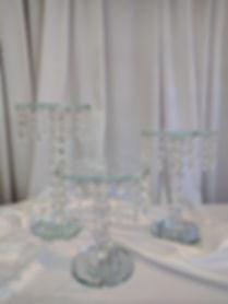 NYC crystal cake stand rental
