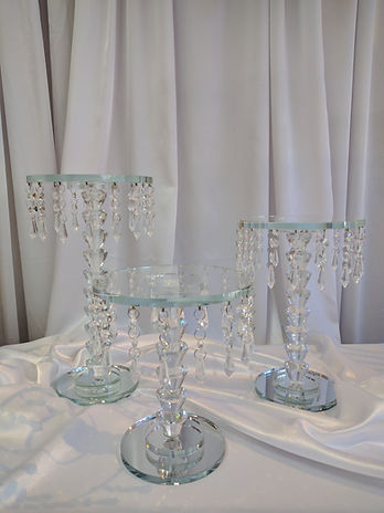 NYC crystal cake stand rental