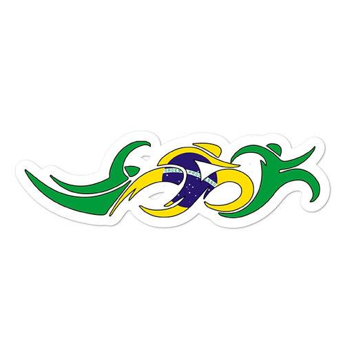 Brazil Swim Bike Run Triathlon Sticker