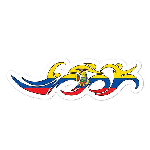 Ecuador Swim Bike Run Triathlon Sticker
