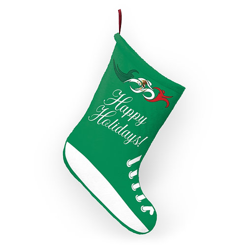 Mexico Swim Bike Run Triathlon Holiday Stocking Hanging View