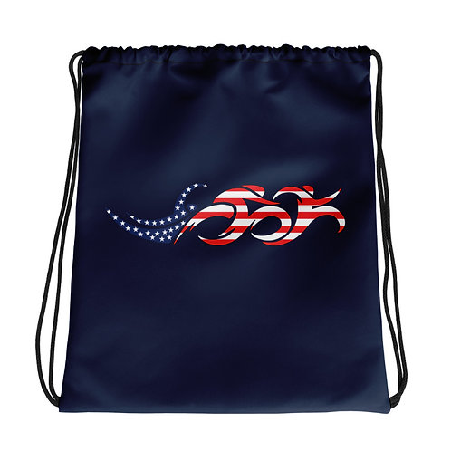 USA Swim Bike Run Triathlon Drawstring Transition Bag