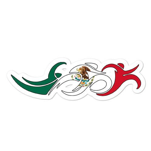 Mexico Swim Bike Run Triathlon Sticker