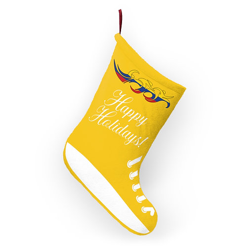 Colombia Swim Bike Run Triathlon Holiday Stocking Hanging View