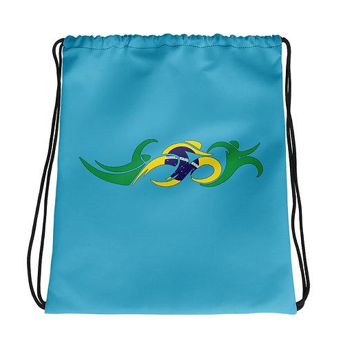 Brazil Swim Bike Run Triathlon Drawstring Transition Bag