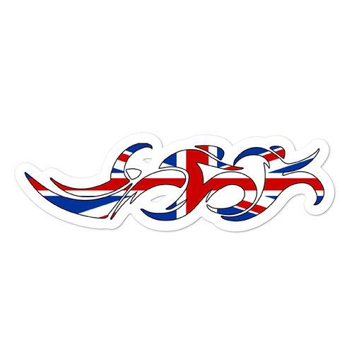 England Swim Bike Run Triathlon Sticker