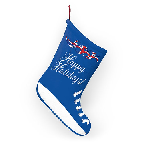England Swim Bike Run Triathlon Holiday Stocking Hanging View