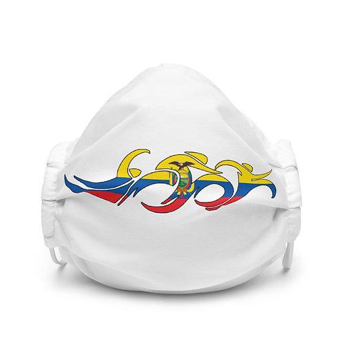 Ecuador Swim Bike Run Triathlon Face Mask Front View