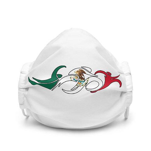 Mexico Swim Bike Run Triathlon Face Mask Front View