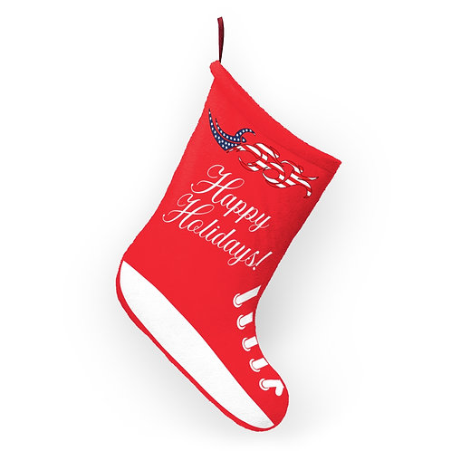 USA Swim Bike Run Triathlon Holiday Stocking Hanging View