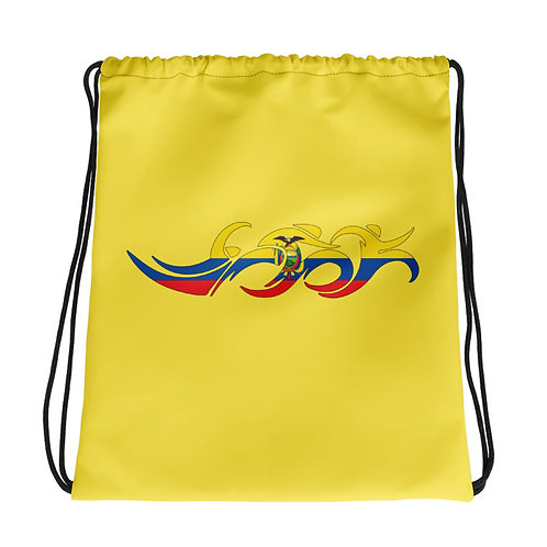 Ecuador Swim Bike Run Triathlon Drawstring Transition Bag