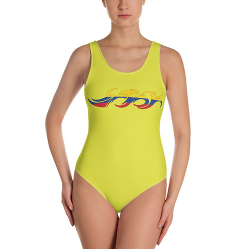 Colombia Swim Bike Run Triathlon Woman Swimsuit Front View