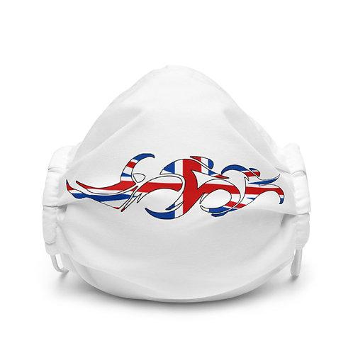 England Swim Bike Run Triathlon Face Mask Front View