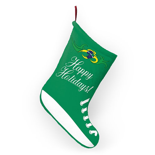 Brazil Swim Bike Run Triathlon Holiday Stocking Hanging View