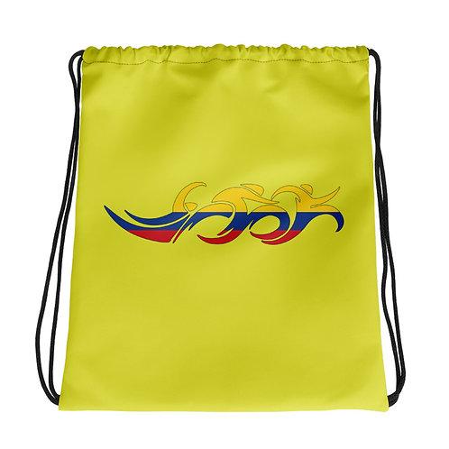 Colombia Swim Bike Run Triathlon Drawstring Transition Bag
