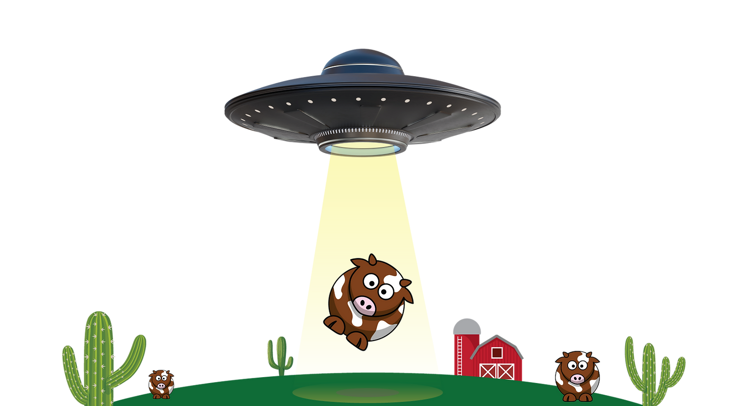 Lights Jerky UFO Brown Cow Abduction